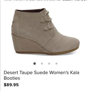 TOMS boots in taupe